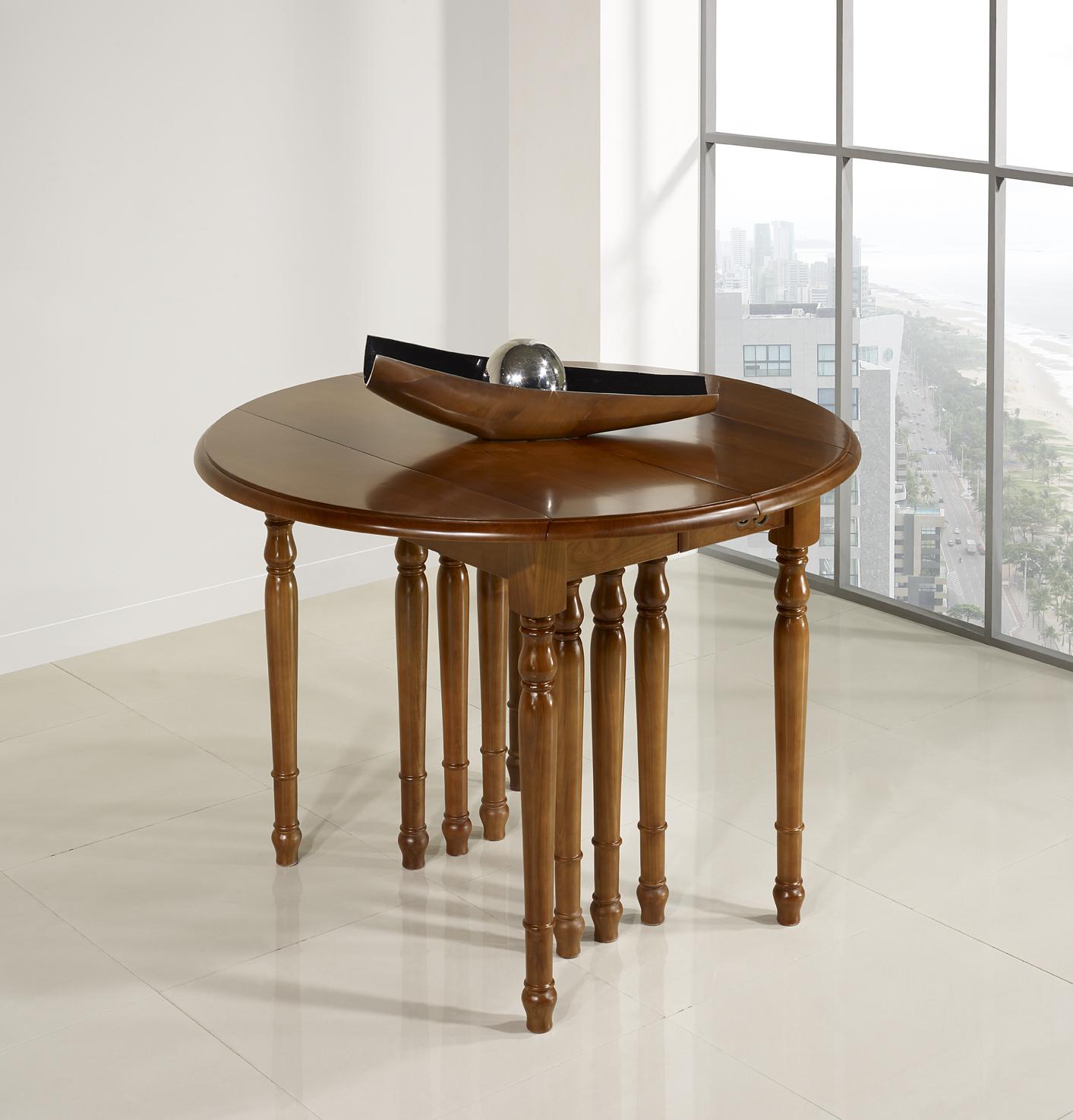 table ronde volets diametre 120 en ch ne massif de style louis philippe 10 allonges de 40 cm. Black Bedroom Furniture Sets. Home Design Ideas
