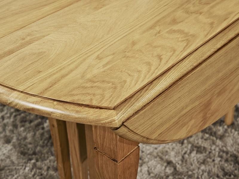 Table ronde volets bastien diametre 120 en ch ne massif - Diametre table ronde pour 10 personnes ...