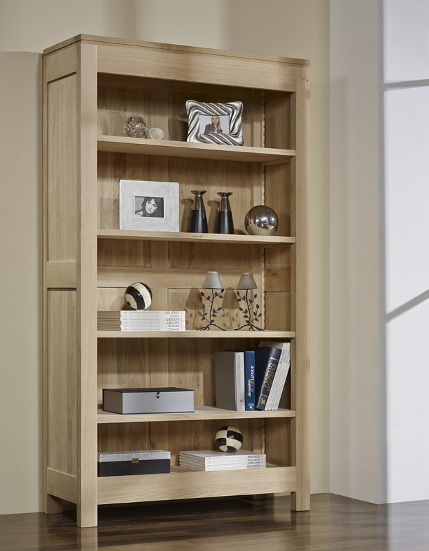 Biblioth que collection nature en ch ne massif 4 tag res meuble en ch ne - Bibliotheque ikea bois ...