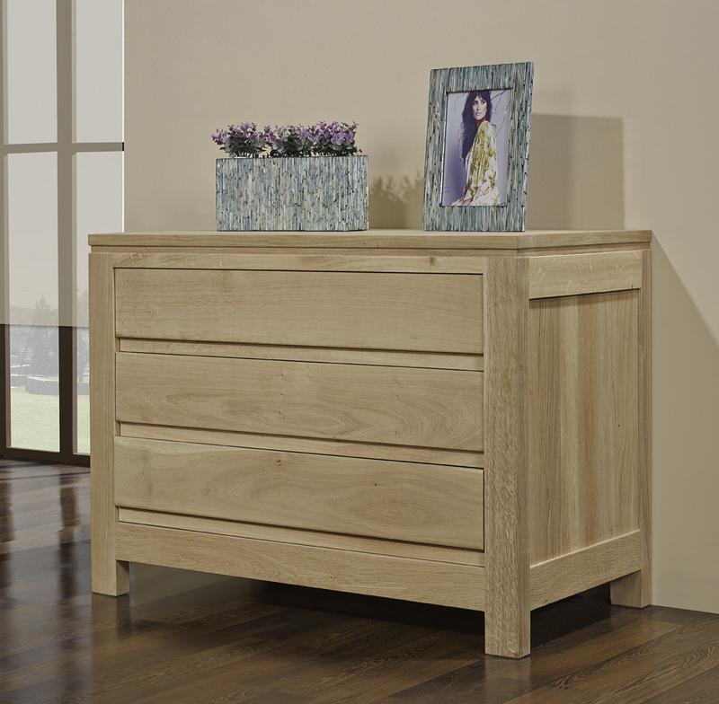 commode 3 tiroirs collection nature en ch ne massif. Black Bedroom Furniture Sets. Home Design Ideas