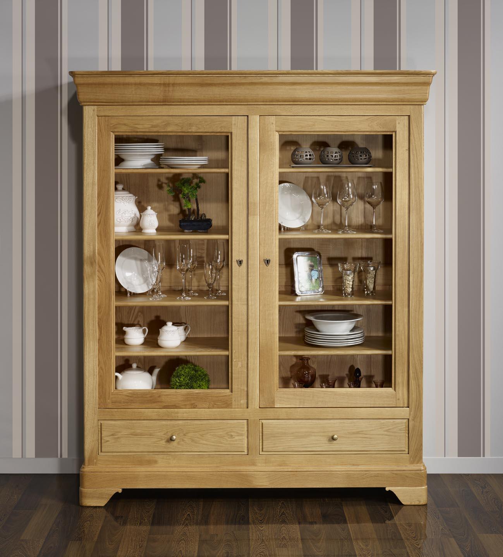 biblioth que 2 portes 2 tiroirs en ch ne massif de style louis philippe meuble en ch ne. Black Bedroom Furniture Sets. Home Design Ideas