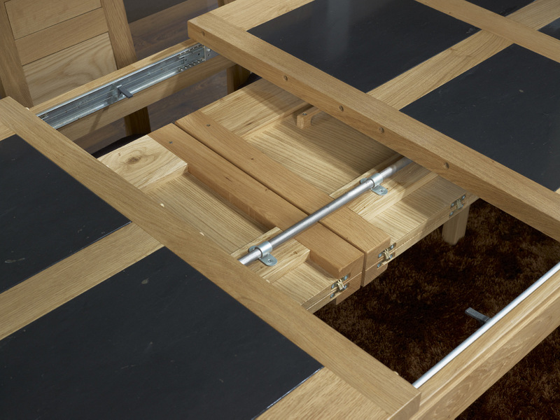 table de repas rectangulaire 200x100 mathis en ch ne ligne contemporaine meuble en ch ne. Black Bedroom Furniture Sets. Home Design Ideas