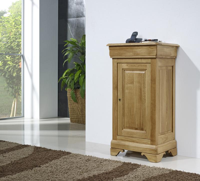 meuble t l phone manuel en ch ne massif de style louis philippe meuble en ch ne. Black Bedroom Furniture Sets. Home Design Ideas