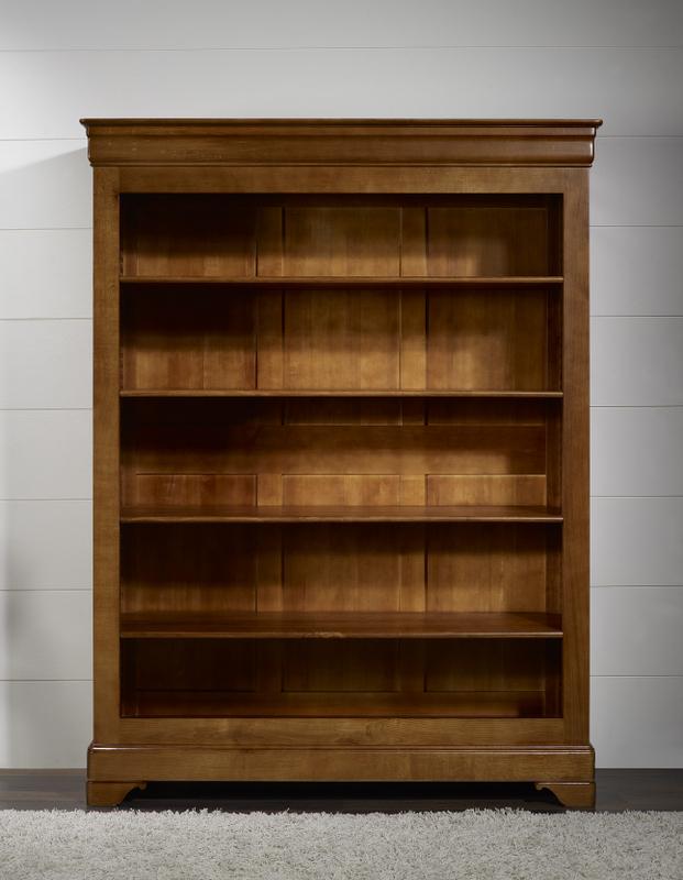 biblioth que sarah en ch ne massif de style louis philippe. Black Bedroom Furniture Sets. Home Design Ideas