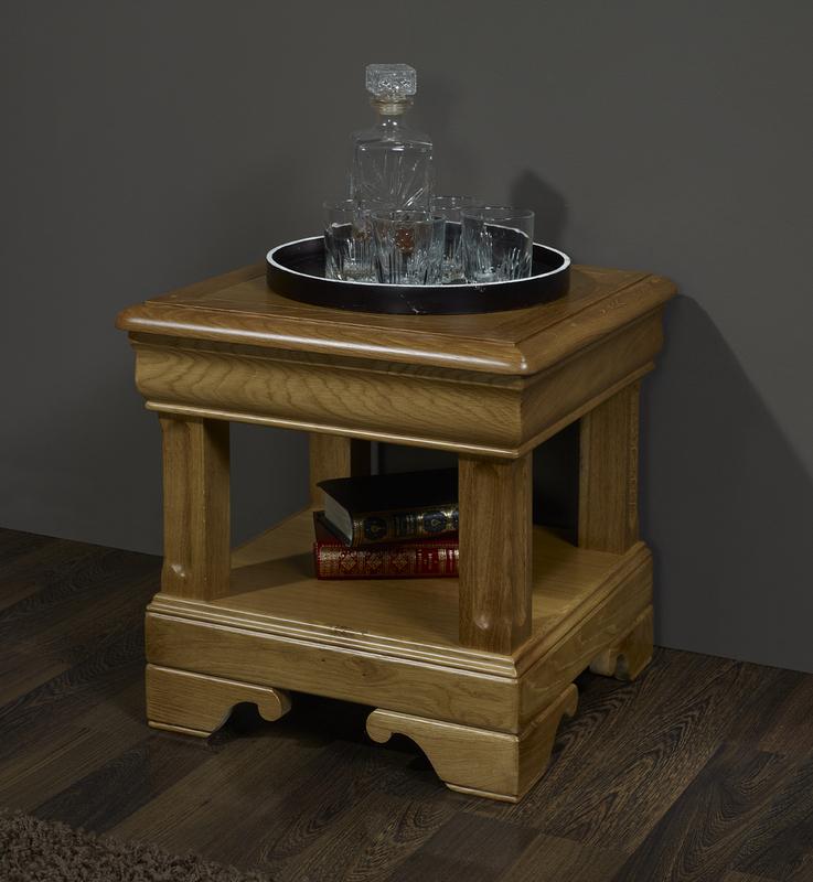 Bout de canap ou table d 39 appoint en ch ne de style louis philippe meuble en ch ne - Bout de canape chene ...