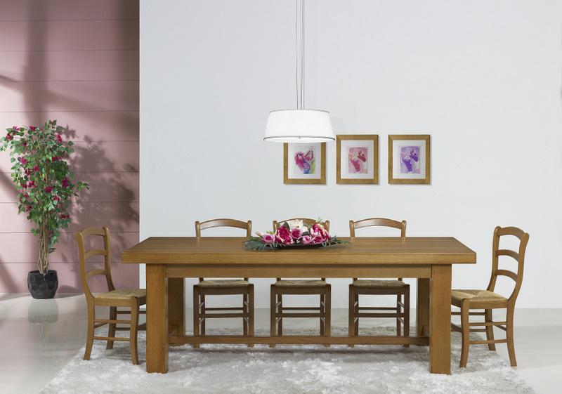 1 seule disponible table de ferme rectangulaire en ch ne. Black Bedroom Furniture Sets. Home Design Ideas
