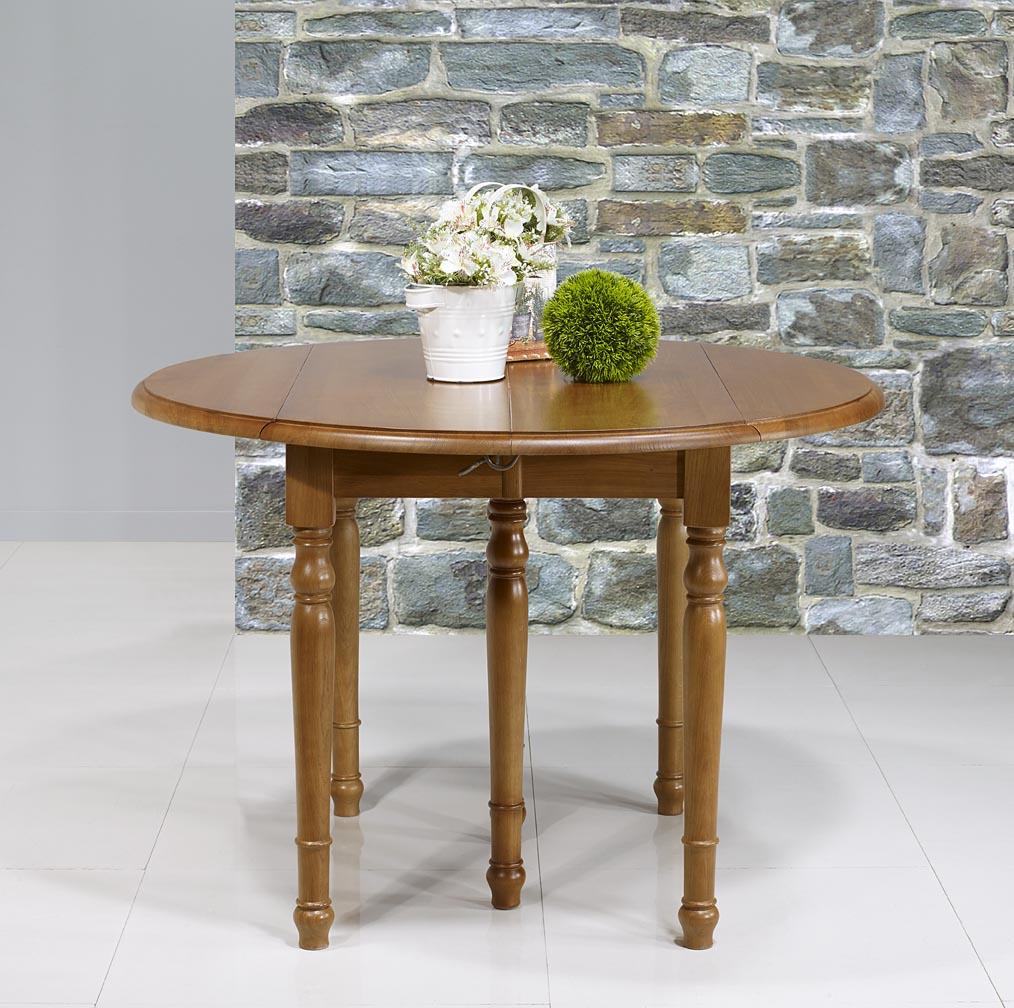table ronde volets en ch ne massif de style louis philippe diam tre 110 4 allonges de 40 cm. Black Bedroom Furniture Sets. Home Design Ideas