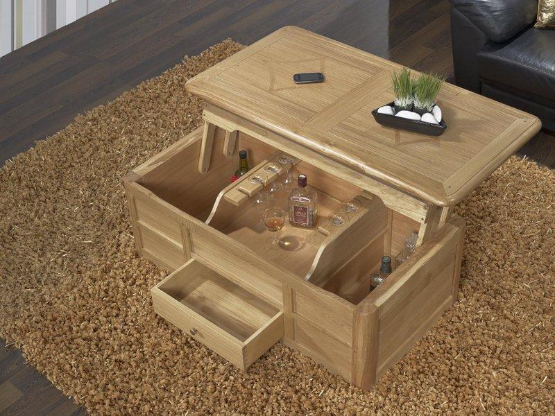 table bar en ch ne de style louis philippe finition ch ne bross meuble en ch ne. Black Bedroom Furniture Sets. Home Design Ideas
