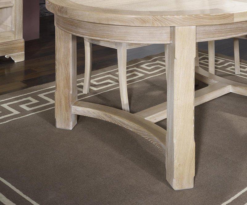 Table de ferme ovale tom en ch ne massif de style campagnard 170 110 finition - Moderniser meuble chene ...