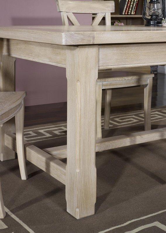 Table de ferme rectangulaire axel en ch ne massif 180x100 for Table en chene rectangulaire