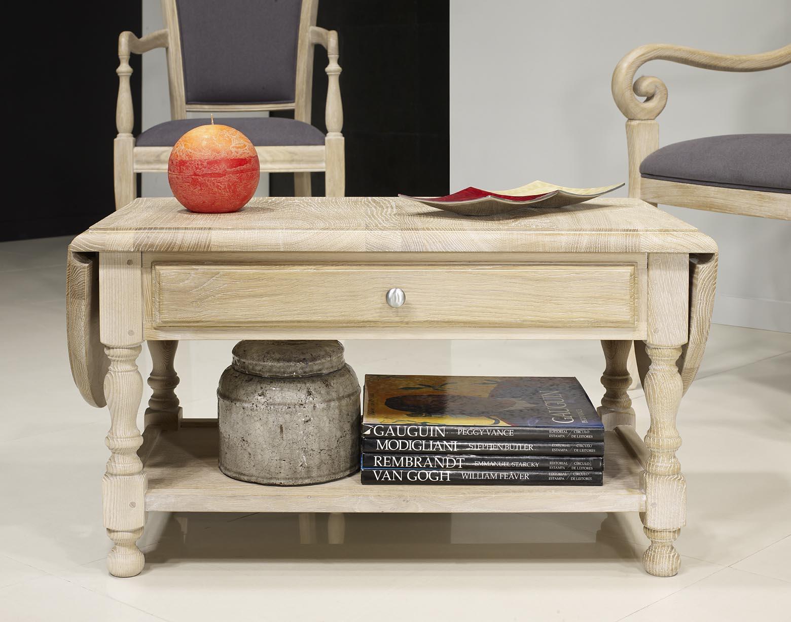 table basse volets en ch ne massif de style louis philippe meuble en ch ne. Black Bedroom Furniture Sets. Home Design Ideas