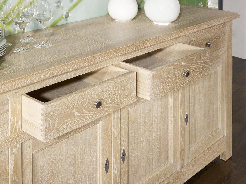 buffet chene blanchi maison design. Black Bedroom Furniture Sets. Home Design Ideas
