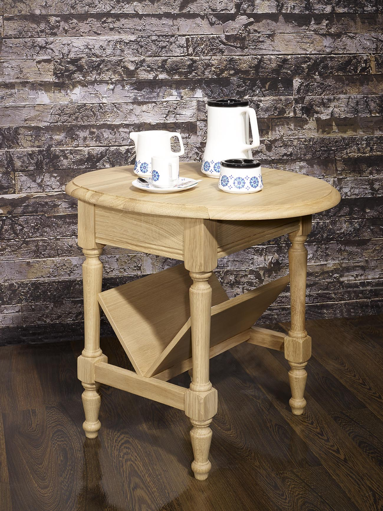 table basse ou bout de canap eric en ch ne de style louis philippe finition ch ne bross. Black Bedroom Furniture Sets. Home Design Ideas