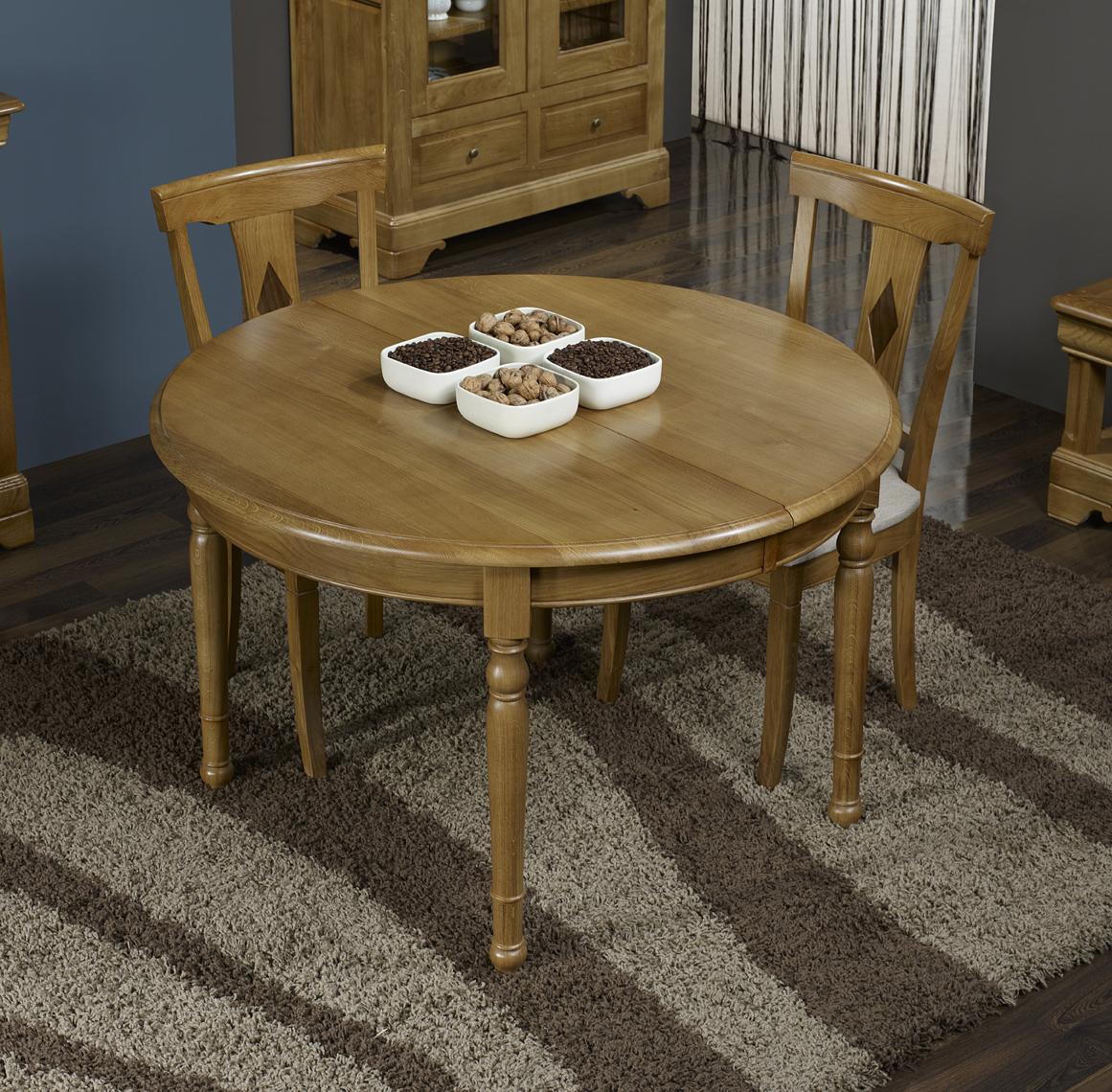 table ronde en ch ne massif de style louis philippe diametre 110 2 allonges de 40 cm meuble. Black Bedroom Furniture Sets. Home Design Ideas