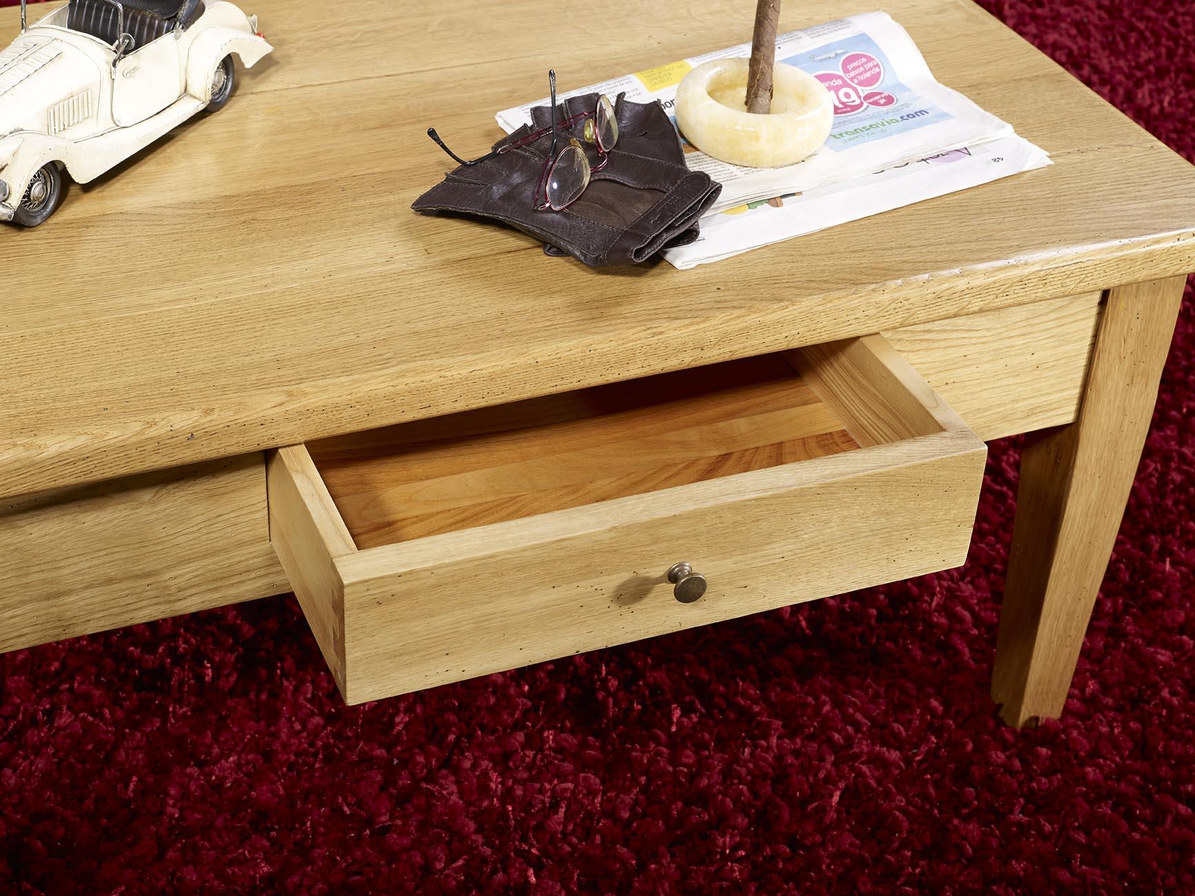 table basse en ch ne massif campagnard meuble en ch ne. Black Bedroom Furniture Sets. Home Design Ideas