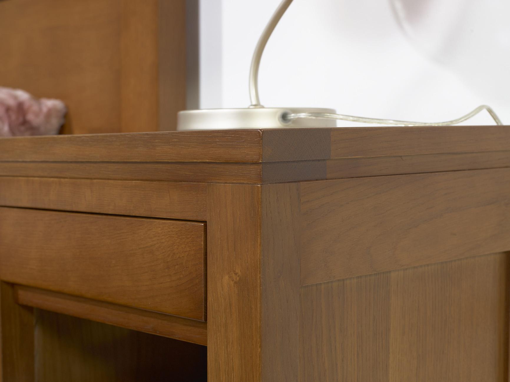 mode 3 tiroirs en Chªne Massif de style Contemporain meuble en