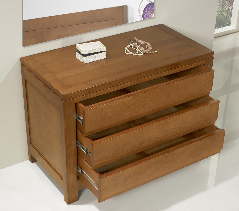 commode 3 tiroirs en ch ne massif de style contemporain meuble en ch ne. Black Bedroom Furniture Sets. Home Design Ideas