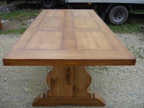 table monastère 250x100 en chêne massif , meuble en chêne
