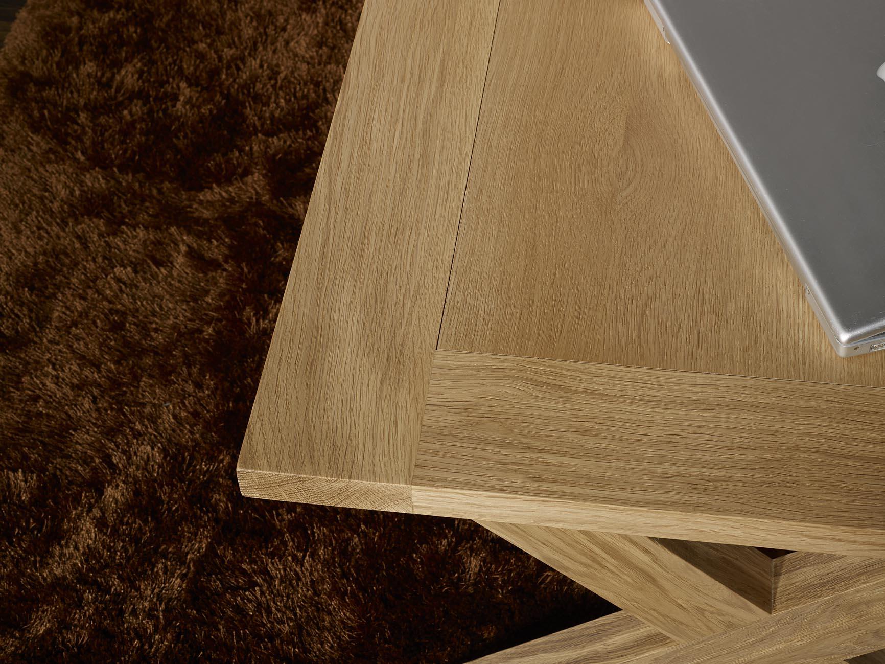 Table basse rectangulaire en chêne de style Campagnard
