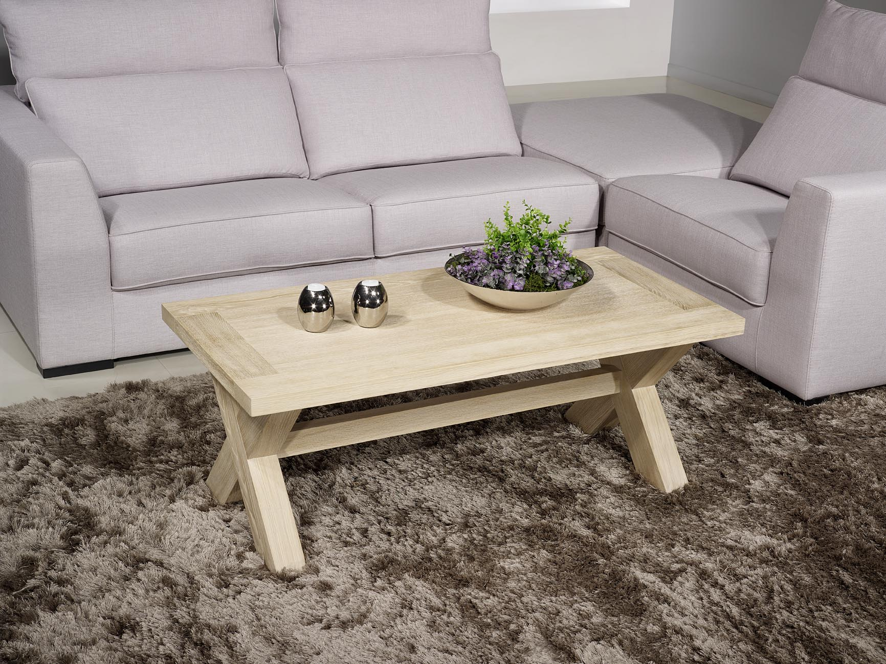 table basse rectangulaire en ch ne de style campagnard finition ch ne bross meuble en ch ne. Black Bedroom Furniture Sets. Home Design Ideas