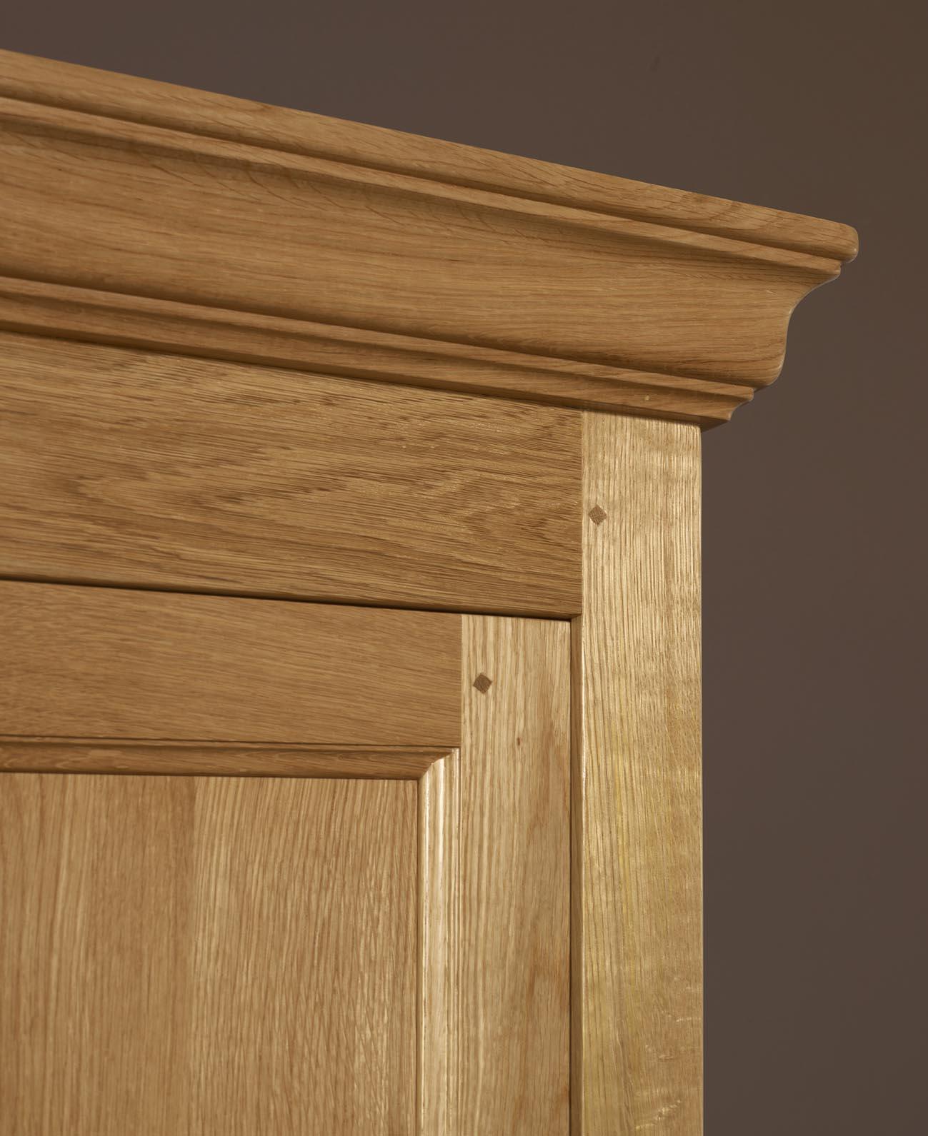 Armoire 2 portes en ch ne massif de style campagnard meuble en ch ne - Armoire chene massif 2 portes ...