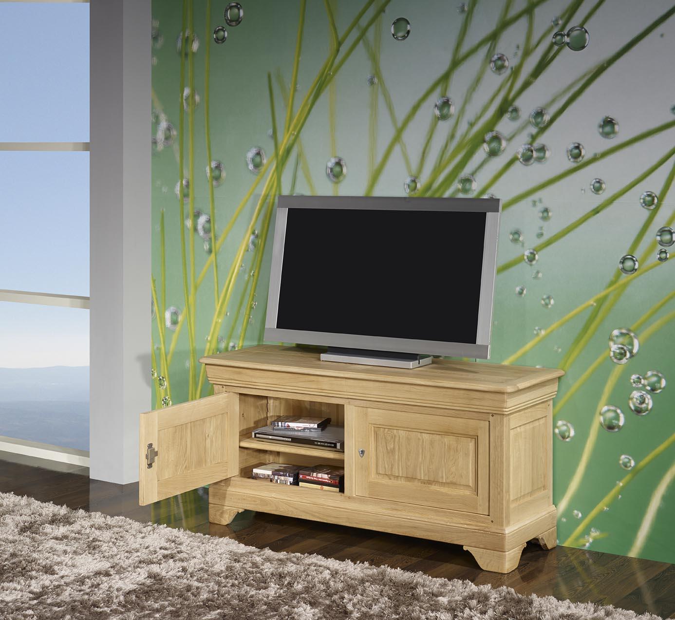 Meuble Tv 16 9 Me En Ch Ne Massif De Style Louis Philippe Finition  # Meuble Tv Merisier Style Louis Philippe