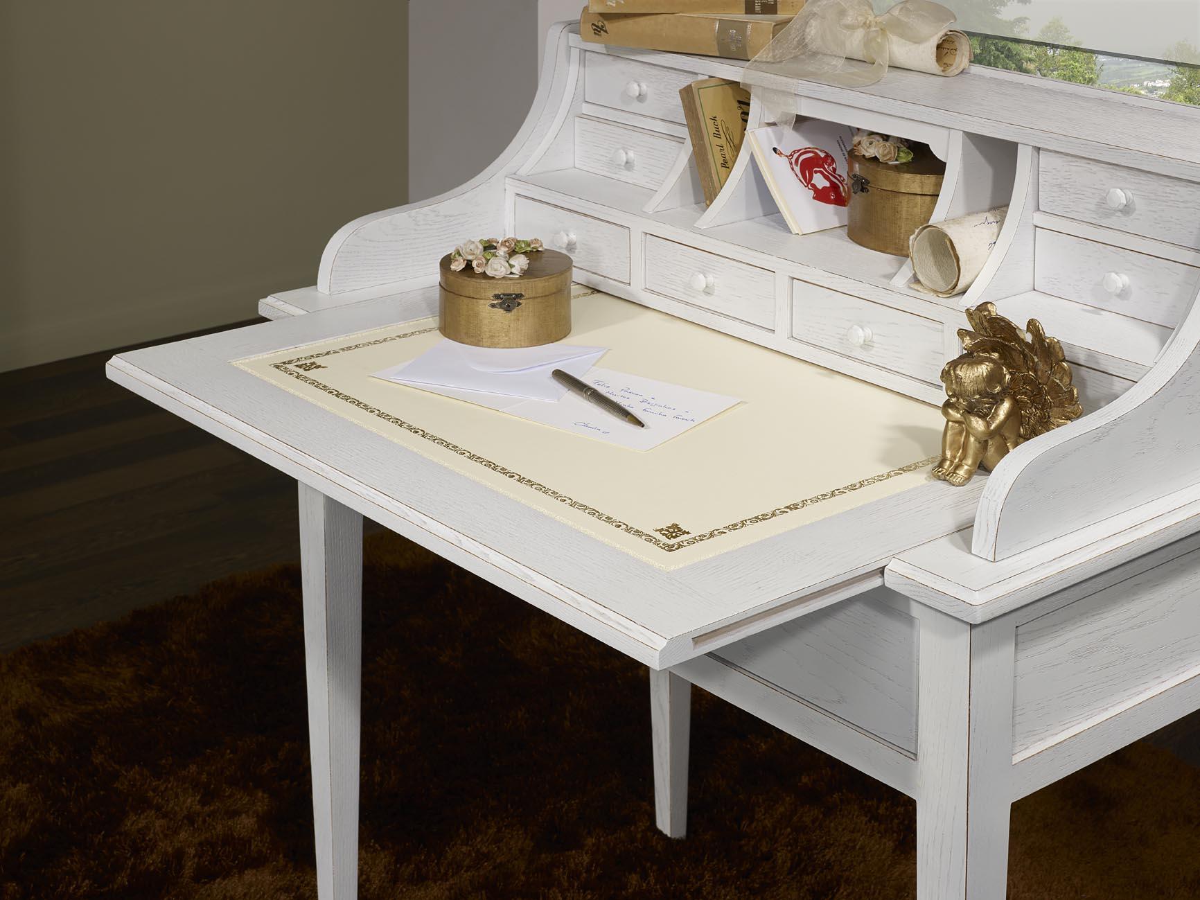 bonheur du jour louis en ch ne de style directoire finition ch ne bross ivoire meuble en ch ne. Black Bedroom Furniture Sets. Home Design Ideas