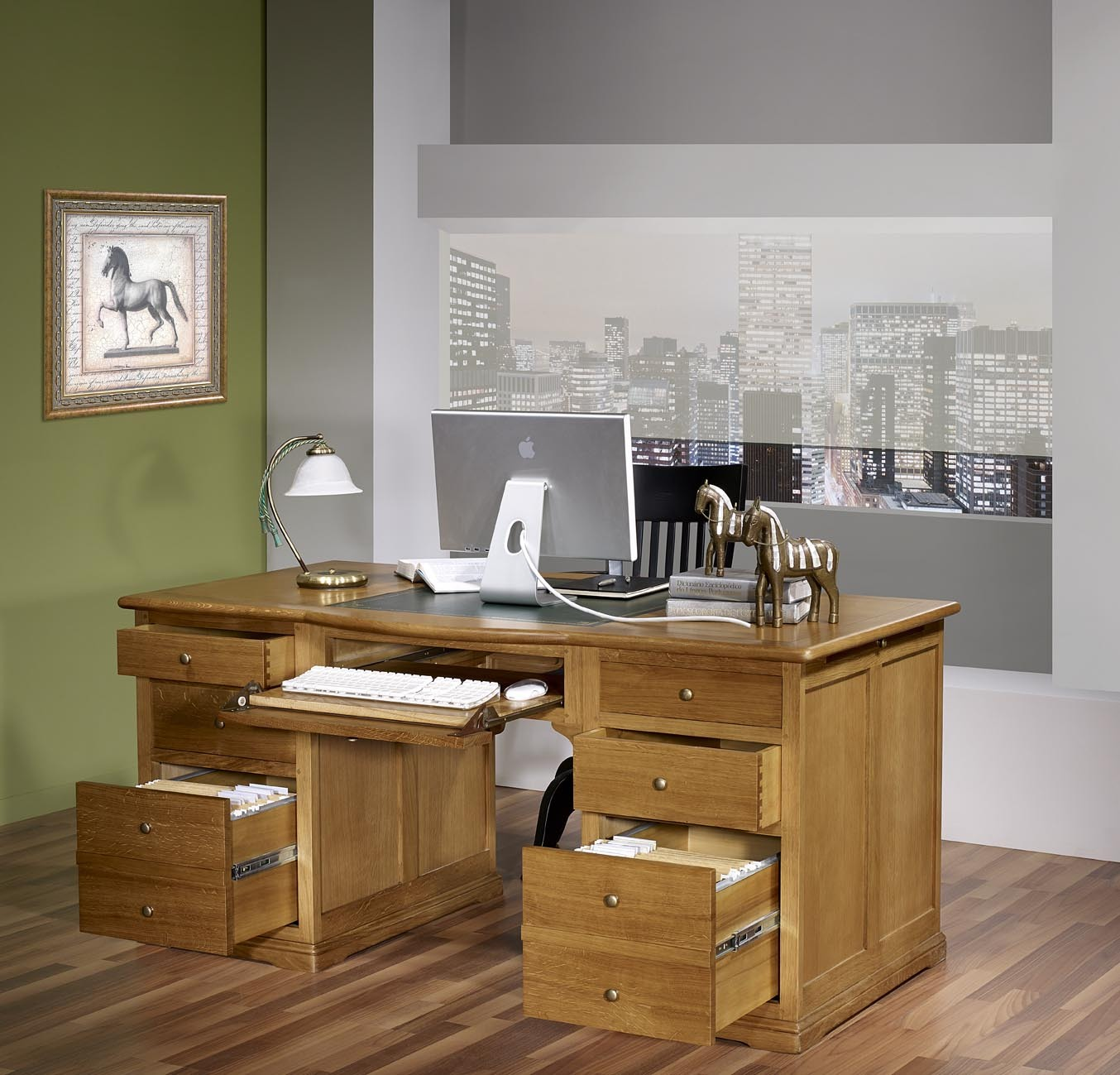 bureau ministre sp cial dossiers suspendus en ch ne massif de style louis philippe meuble en ch ne. Black Bedroom Furniture Sets. Home Design Ideas