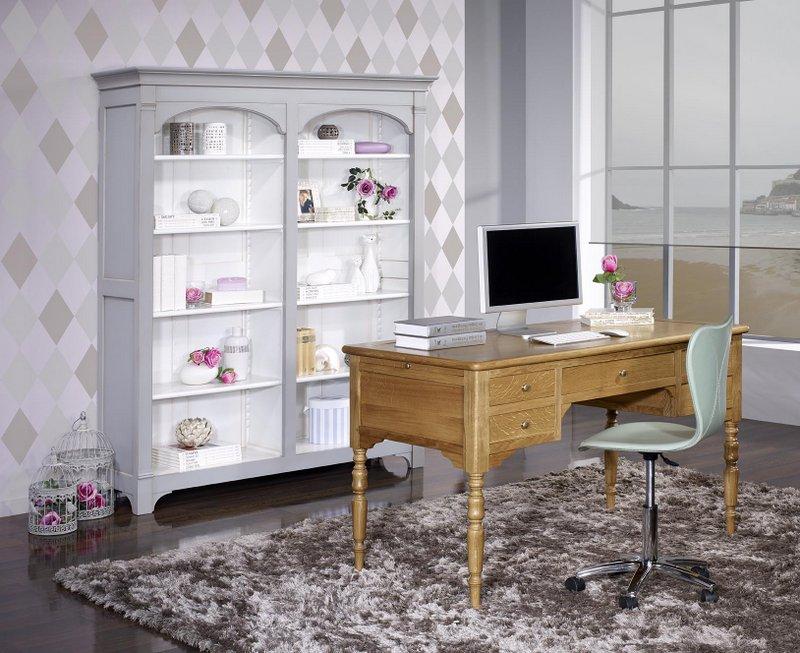 bureau ministre en ch ne massif de style louis philippe. Black Bedroom Furniture Sets. Home Design Ideas