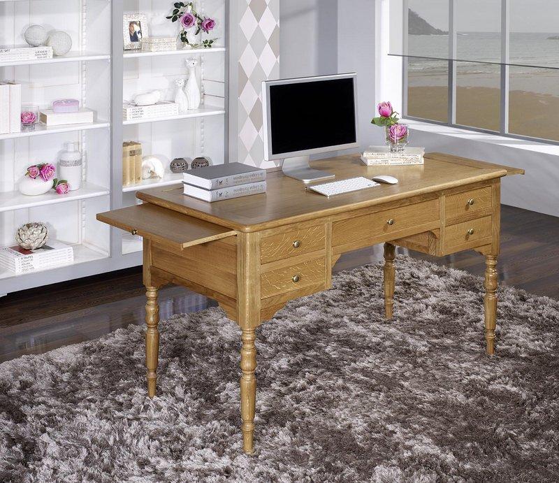 Bureau Ministre en Chêne Massif de style Louis Philippe , meuble en Chêne -> Bureaux Style Ministre