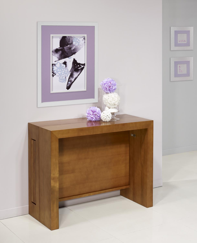 console extensible en ch ne contemporaine 4 allonges meuble en ch ne. Black Bedroom Furniture Sets. Home Design Ideas