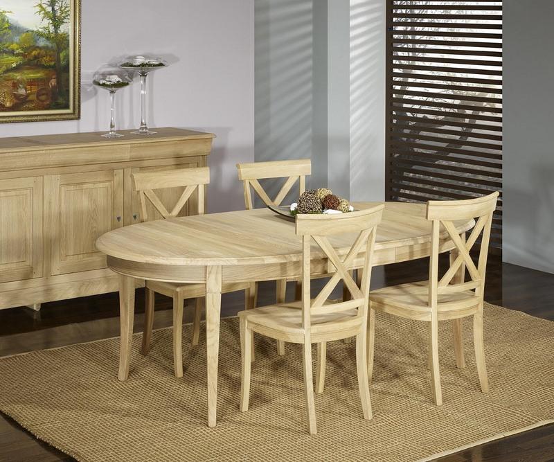 Table ovale 170 110 en ch ne massif de style louis for Table 16 personnes
