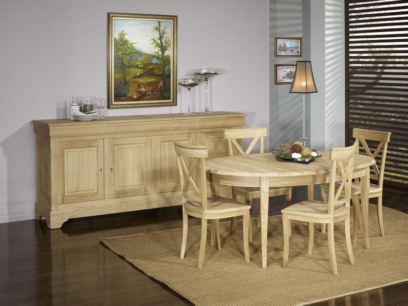 Table ovale 170*110 en Chêne Massif de style Louis Philippe 5 ...
