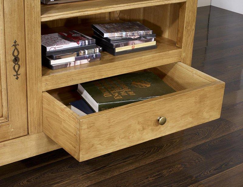 meuble tv 16 9 me en ch ne massif de style louis philippe campagnard meuble en ch ne. Black Bedroom Furniture Sets. Home Design Ideas