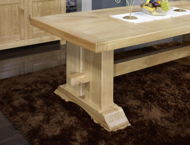 table monast re rectangulaire 220x100 en ch ne massif 2. Black Bedroom Furniture Sets. Home Design Ideas