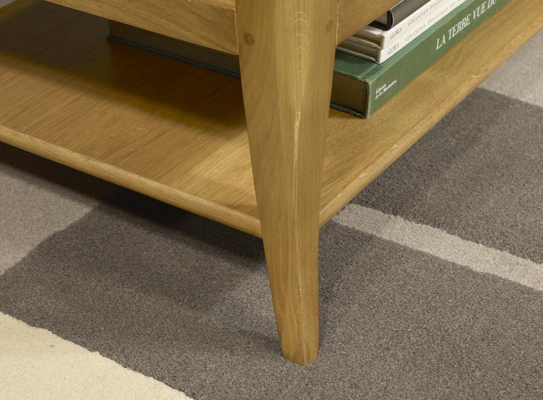 Table basse rectangulaire en ch ne de style louis philippe longueur 100 cm meuble en ch ne - Table basse louis philippe ...