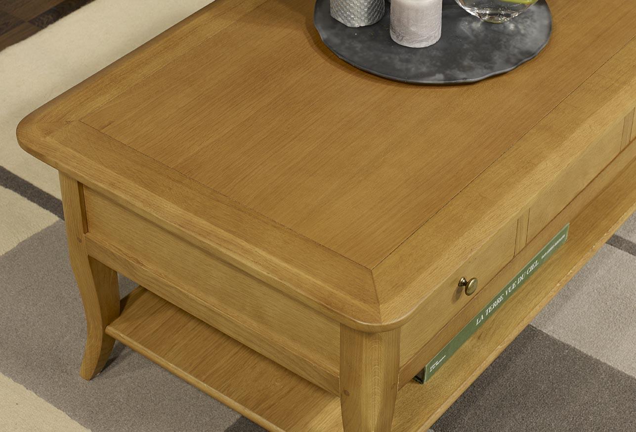 Table basse rectangulaire en ch ne de style louis philippe - Table basse louis philippe ...