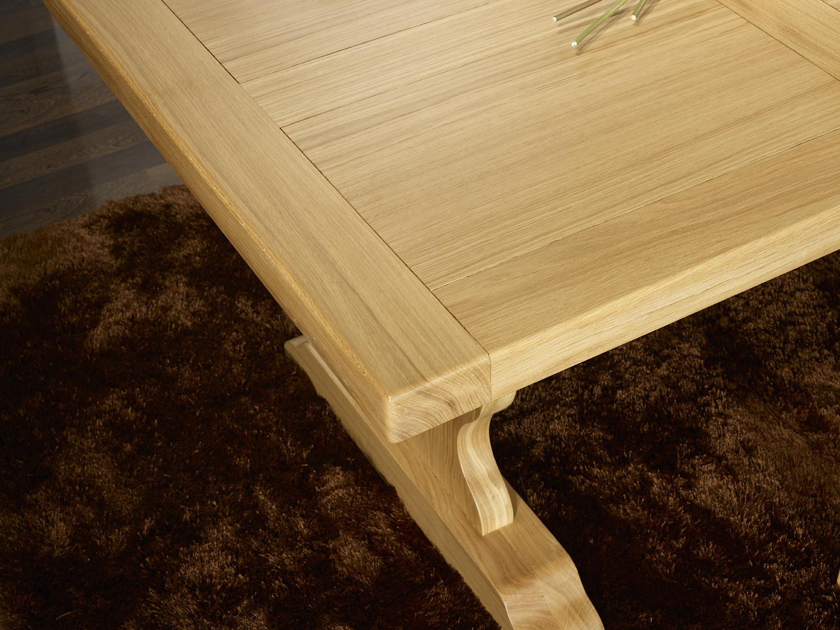 table monast re 200x100 en ch ne massif meuble en ch ne. Black Bedroom Furniture Sets. Home Design Ideas