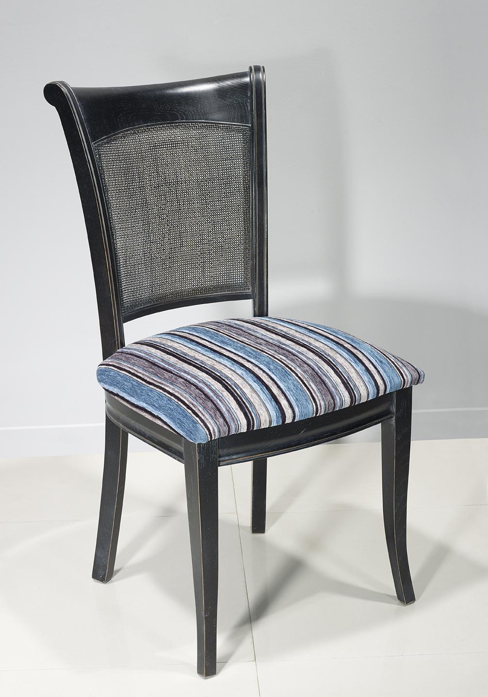 Chaise en ch ne de style louis philippe finition charbon meuble en ch ne - Chaise style louis philippe ...