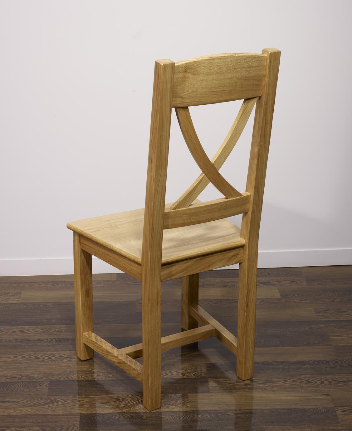 chaise en ch ne massif de style campagne assise ch ne meuble en ch ne. Black Bedroom Furniture Sets. Home Design Ideas