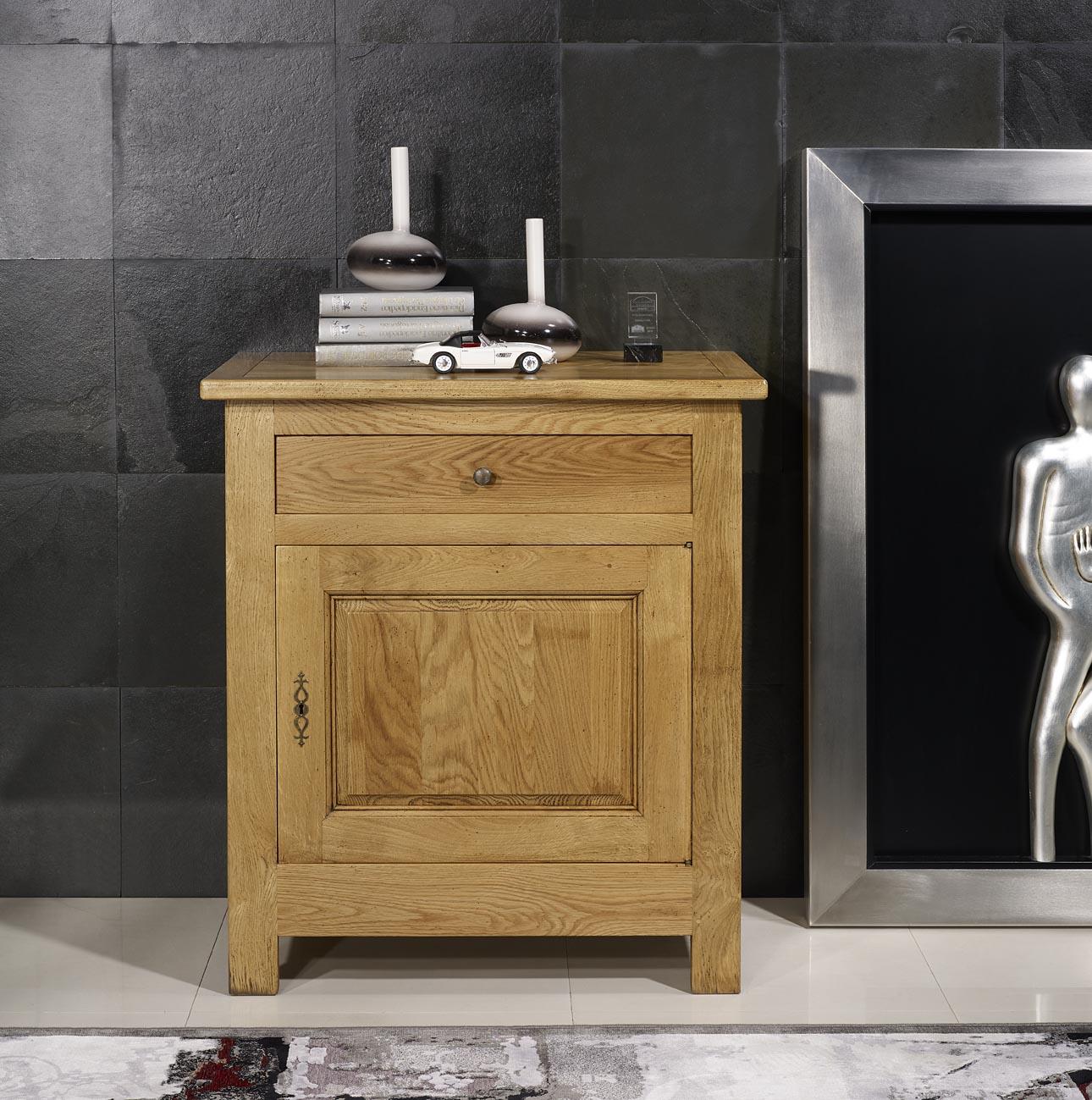 confitutier 1 porte 1 tiroir en ch ne massif de style campagnard 1 seul disponible meuble en ch ne. Black Bedroom Furniture Sets. Home Design Ideas
