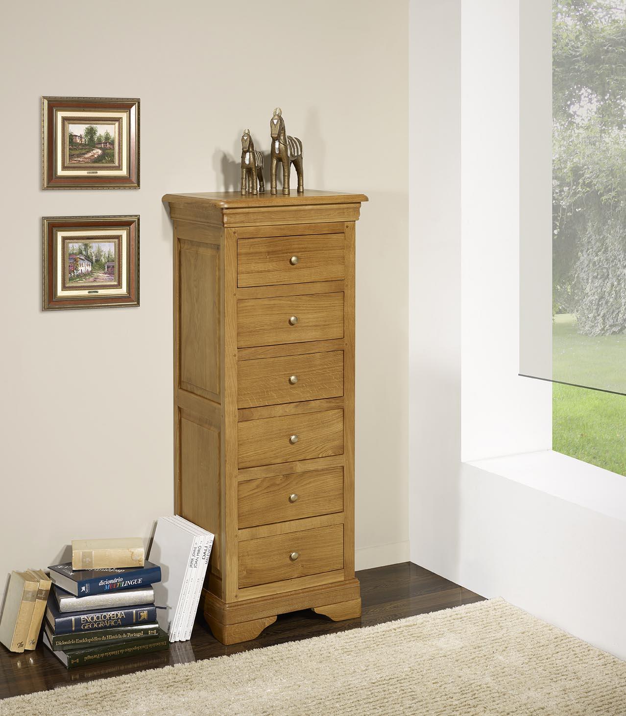 chiffonnier 6 tiroirs benjamin en ch ne massif de style louis philippe meuble en ch ne. Black Bedroom Furniture Sets. Home Design Ideas