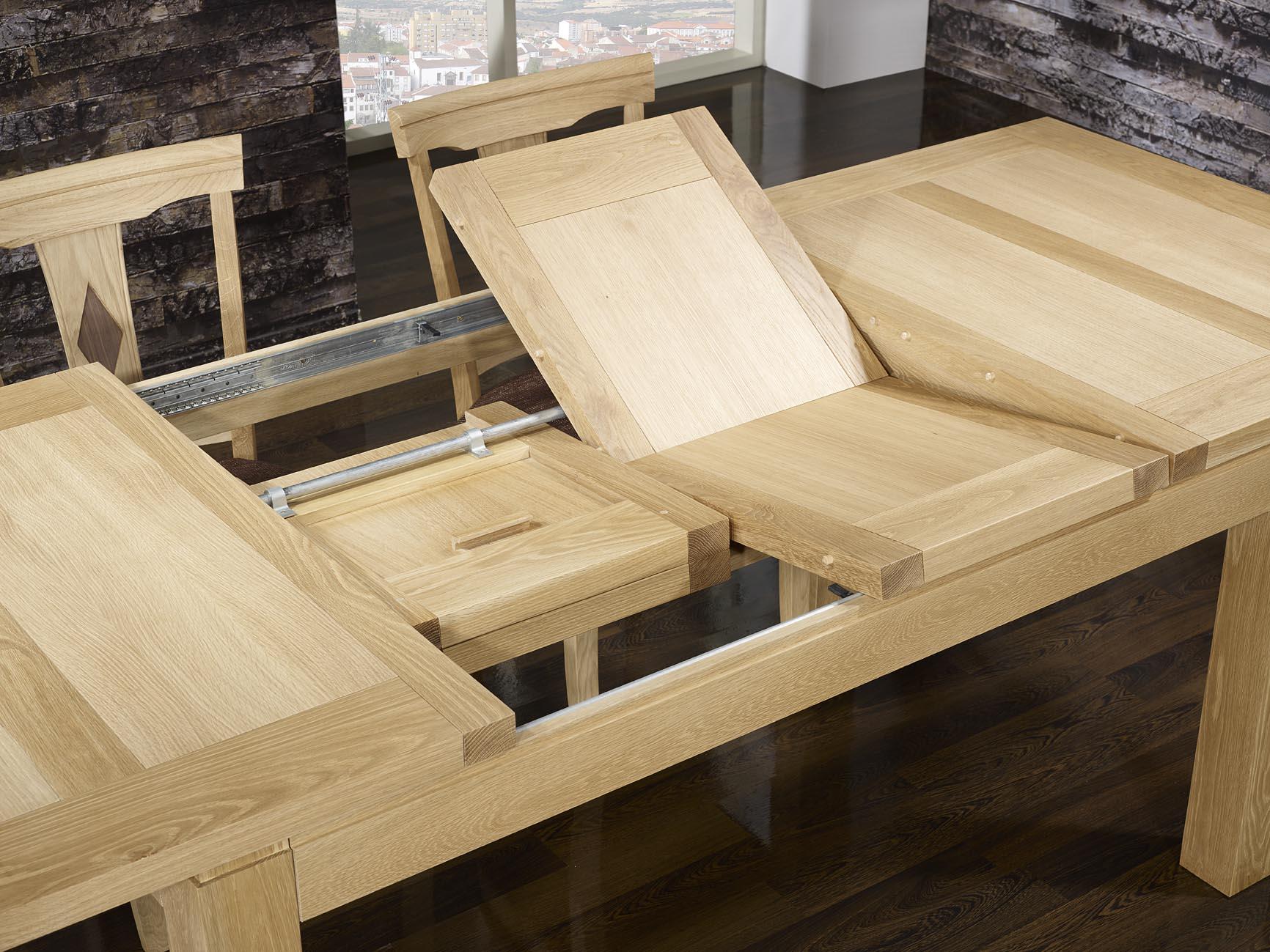 Table de repas rectangulaire 160x100 th o en ch ne ligne contemporaine finiti - Table bois massif contemporaine ...