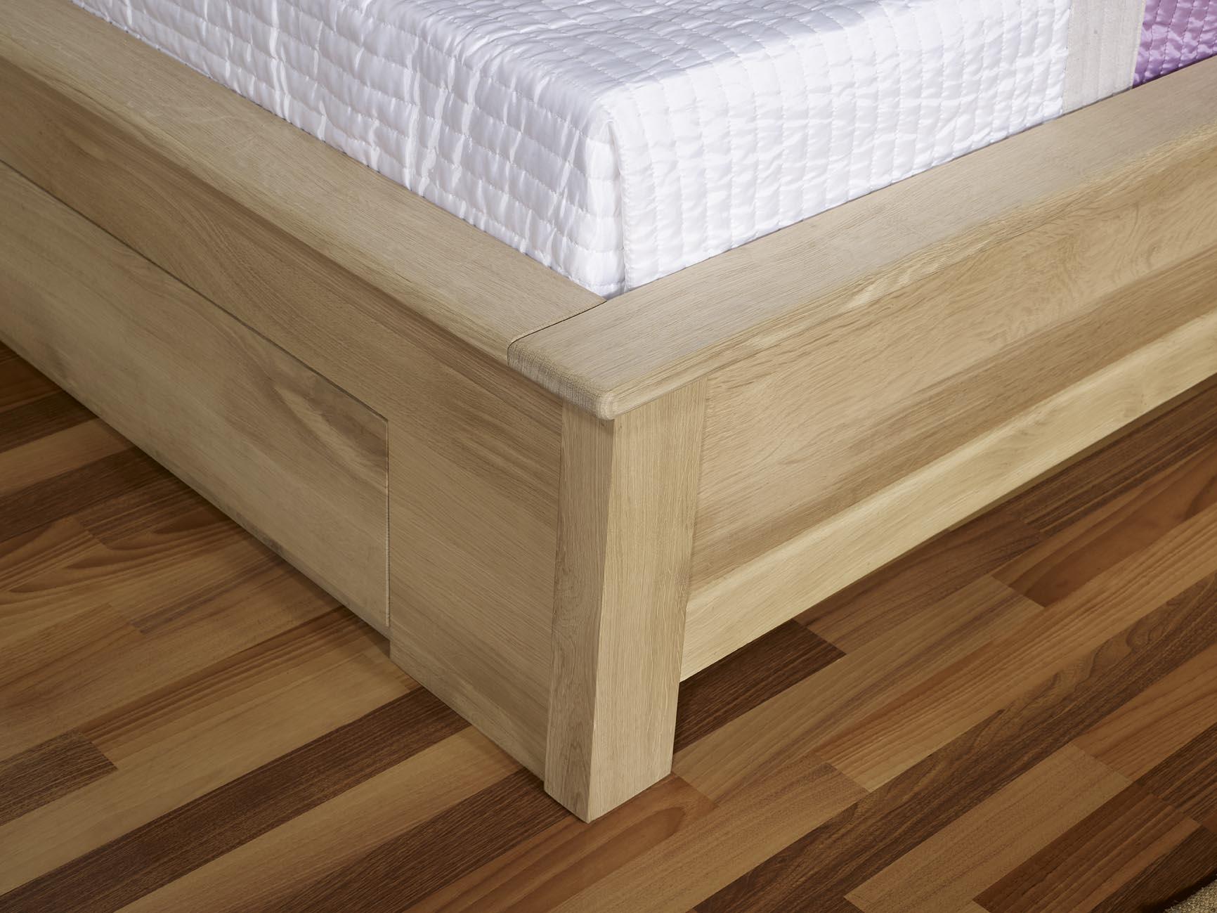 lit collection nature 120 190 en ch ne massif avec tiroirs finition traditionnelle meuble en ch ne. Black Bedroom Furniture Sets. Home Design Ideas