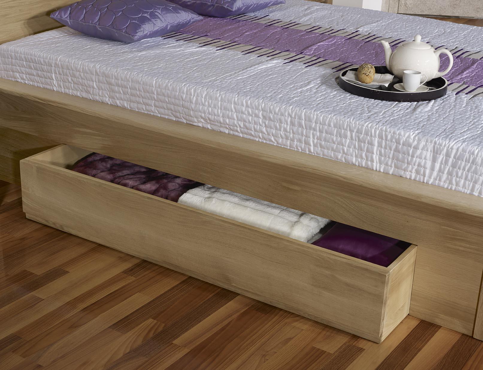 lit collection nature 120 190 en ch ne massif avec tiroirs. Black Bedroom Furniture Sets. Home Design Ideas