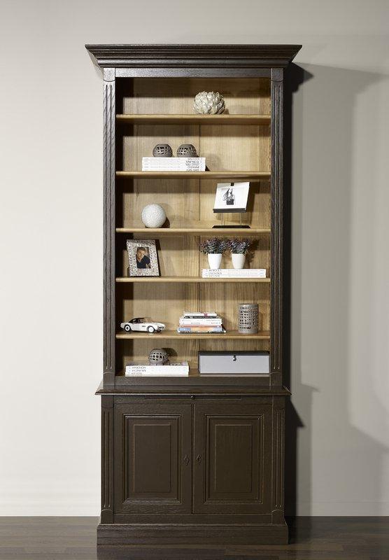 biblioth que sylvain en ch ne massif de style directoire finition ch ne bross meuble en ch ne. Black Bedroom Furniture Sets. Home Design Ideas