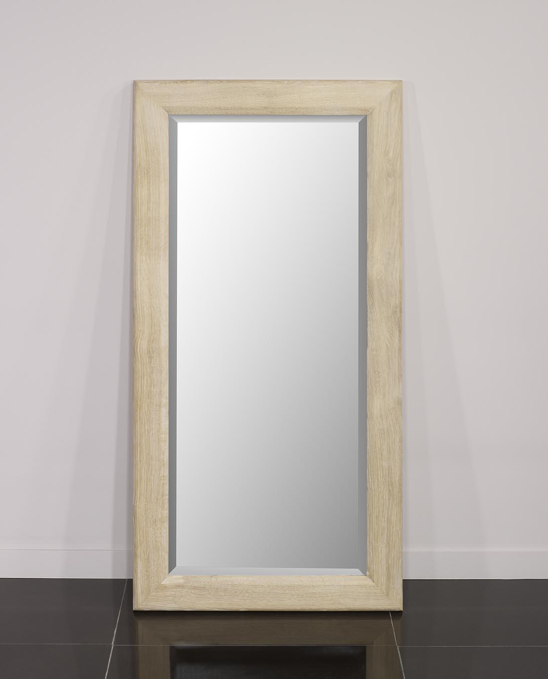 miroir glace biseaut e 120x60 en ch ne massif meuble en