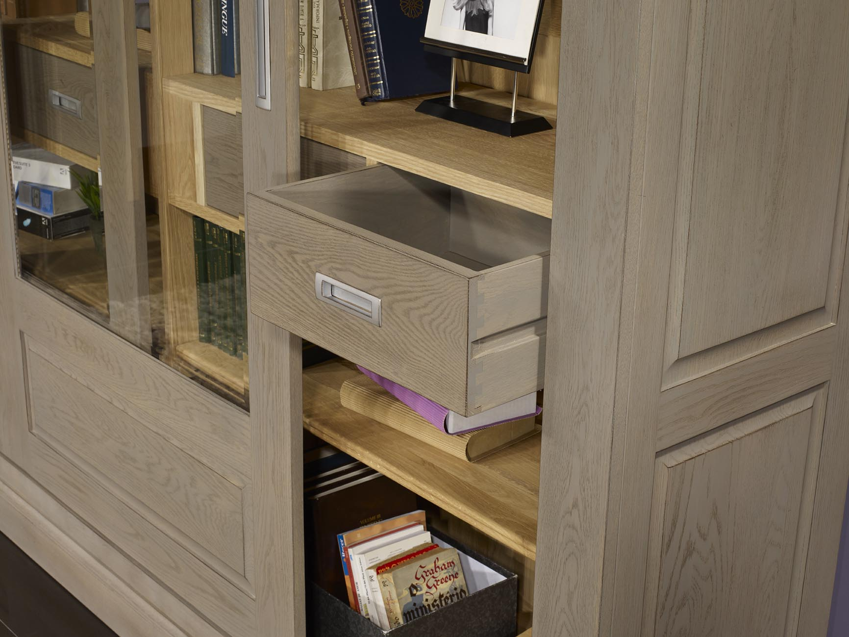 Meuble Tv Bibliotheque Porte Coulissante Artzein Com # Exemple De Bureau Bibliotheque En Chene Massif