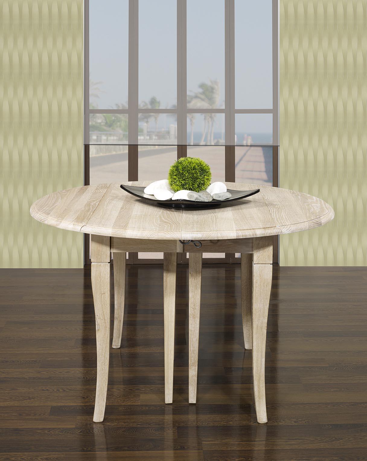 table ronde volets diam tre 110 en ch ne massif de style louis philippe 7 allonges de 40 cm. Black Bedroom Furniture Sets. Home Design Ideas