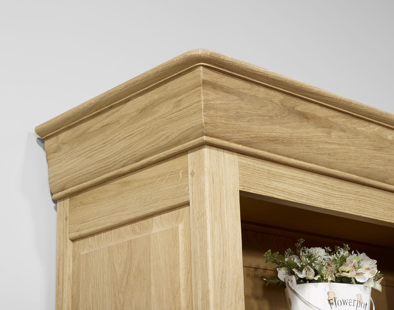 biblioth que en ch ne massif de style louis philippe longueur 360 cm meuble en ch ne. Black Bedroom Furniture Sets. Home Design Ideas